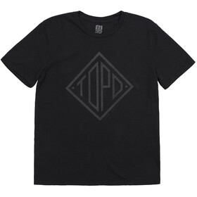 Topo Designs Diamond Camiseta Hombre, negro